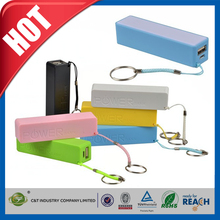 C&T 2600mAh Portable Backup Battery Charger USB Power Bank for Smart Phones and other Digital Devices