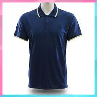 OEM Blue plain design cotton polo t shirt for men