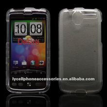For HTC Desire transparent crystal cellphone case