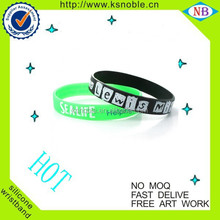custom extra long reflective slap with full color silicone wristband
