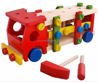 Easy Assembled Colorful DIY Wood Toy Wholesale Kids Educational Toy Car