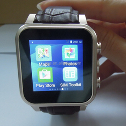 cheapest factory waterproof IP67 android 4.4 smart watch phone fashion design & competitive price