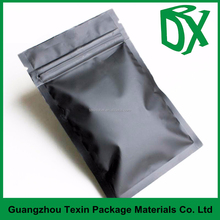 plastic three side seal zipper bag for seeds packing,aluminum foil bag coffee pouch