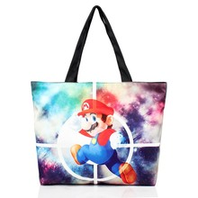 Lovely Mario Print Galaxy side girls shoulder bags for school