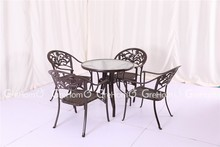 used standard glass coffee shop table and chiar