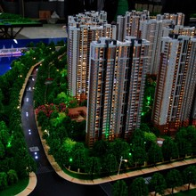 Residential block building model / shanghai ABS building block model factory