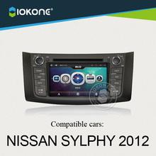 iokone dashboard touch screen car radio dvd audio gps navigation for Nissan SYLPHY 2012