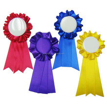 Wholesale Customized Flower Award Ribbon rosette with Button Badge For Party/Garment Accessory