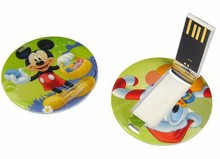 round shape plastic usb memory drives,promoting usb gifts in anniversary day