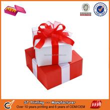 Custom birthday gift box with ribbon