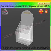 2013 acrylic greeting card display holder POP display stand for acrylic greeting card display holder