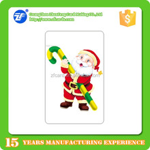 Fashionable design credit card size TK4100 pvc christmas cards with factory price