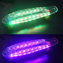 Led Shiny Skate Board /Shine Plastic Skateboard /Led deck Penny Skateboard