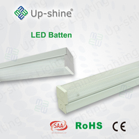 New Design t8 batten light fixture 1200mm 18w 36w SAA CE Approval single and double tube light fitting