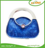Custom folding bag handbag purse hanger hook