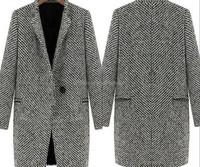 Woman fashion coat 2014 long winter coat cappotto outwear cashmere jacket lapel lab coats wbolesale