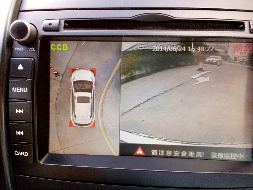 bird view car parking system 360 degrees seamless surround view car dvr with 4 car camera. Black Bedroom Furniture Sets. Home Design Ideas