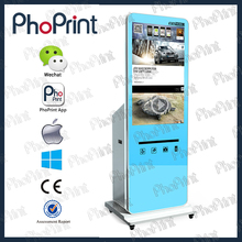 Various commercial photo printer oem smart LCD advertising player 3d Photobooth case oem instant photobooth for instagram boft