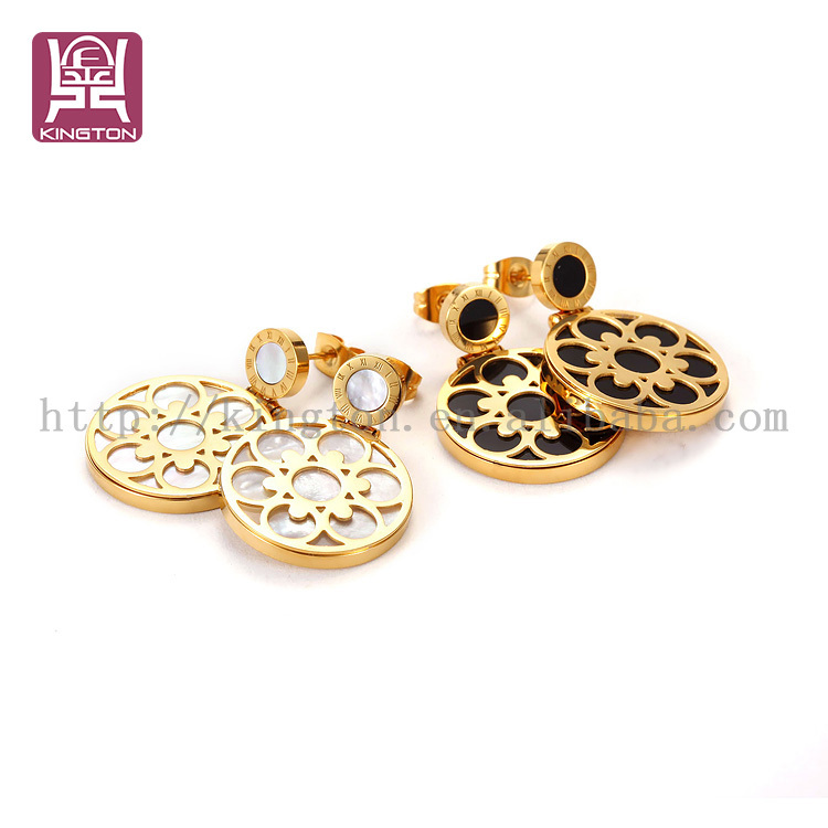wholesale indian gold hanging earrings designs for girls