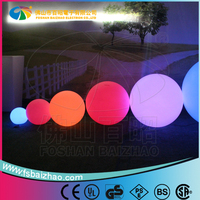 Rotomolding PE plastic Christmas large outdoor led sphere waterproof ball light ,outdoor hanging light balls