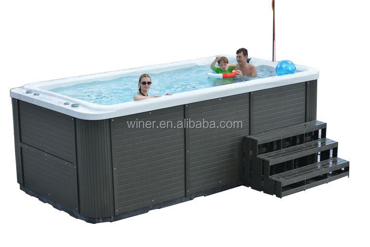 Acr lico barato mini port til nadar ao ar livre spa for Piscina portatil grande