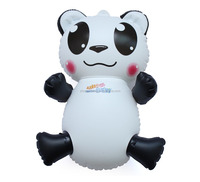 pvc small inflatable carton animal bear for kids toy