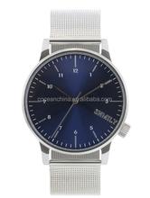 2015 new KOMONO style man wrist watch, charm mesh bracelet watch,China OEM factory price watch