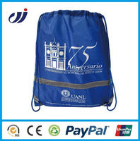 new style custom printed calico bag with drawstring/foldable shopping bag/custom made shopping bags