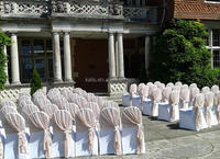 JENNY BRIDAL Chair Covers,Wholesale fancy ruffled Wedding Chair Covers/chair cap
