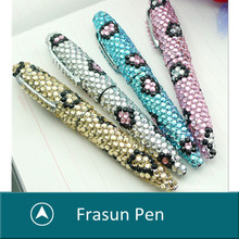 wholesale crystals pens/Rhinestone crystal ballpoint pen/ crystal metal pen