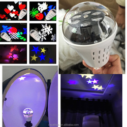 Butterfly/star 4W E27 roration led big snowflake light led party light