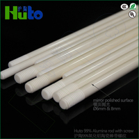 HUTO Brand used for graphite boat 99% Alumina screw ceramic rod