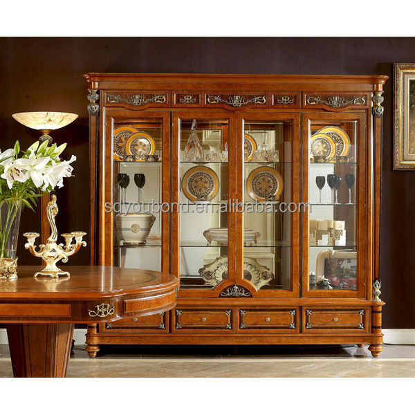 European High End Design Neo Classic Antik Furniture 0029 Wooden Showcase Buy Classic Living