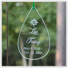 Fashion Engraved Water-Drop Ornaments For Tree Decoration