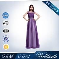 Fashion Crystal Beaded Beautiful Evening Dress For Young Girl