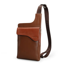 Fashion Tablet Case Bag Genuine Leather Cross Body Chest Bag