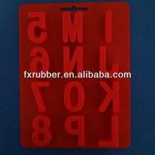 Silicone bolo baking mould em as formas de letras e números