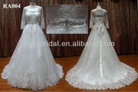 Wedding Dress Long Sleeve 2013 Muslim High Neckline Princess Christmas long sleeve wedding gowns