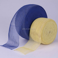 transparent knitted fish line mesh elastic fish silk webbing for garment