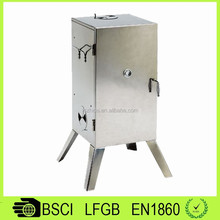 BQ15015 Outdoor Stainless Steel Icebox Smoker Charcoal Grills