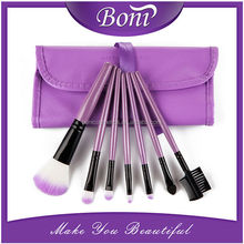 2015 Hot Sale 7 pcs Synthetic Makeup Brush Set Protable Makeup Tools & Accessories purple Makeup Brushes