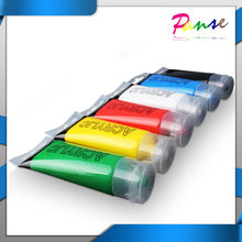 6 x 75ml Green Yellow Red White Blue Black Tubes Acrylic Artistic Paint