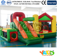 Inflatable Bouncer With Basketball Hoop Inflatable Slide Bounce House