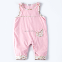 Pink cute sleeveless baby clothes summer girls infants romper