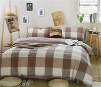 2015 coffee bedding 300T sateen reactive dyeing quilt cover set