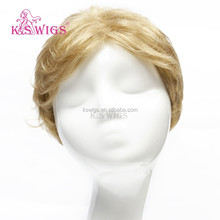 K.S WIGS new arrival men blonde color synthetic hair