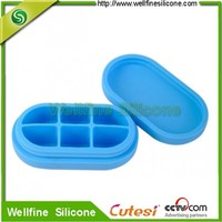 6 compartments children silicone medicine box