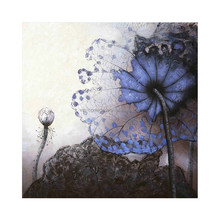 Hand Painted Modern Flower Oil Painting on Canvas for Bedroom