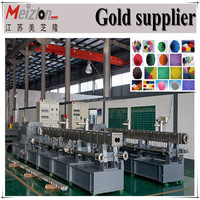 Extruding Plastic Modling Type Colorful HDPE Plastic Shopping Bag / color master batch granules plastic extruder machine
