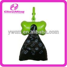 China Yiwu lovely bone shaped plastic pet waste bag with dispenser